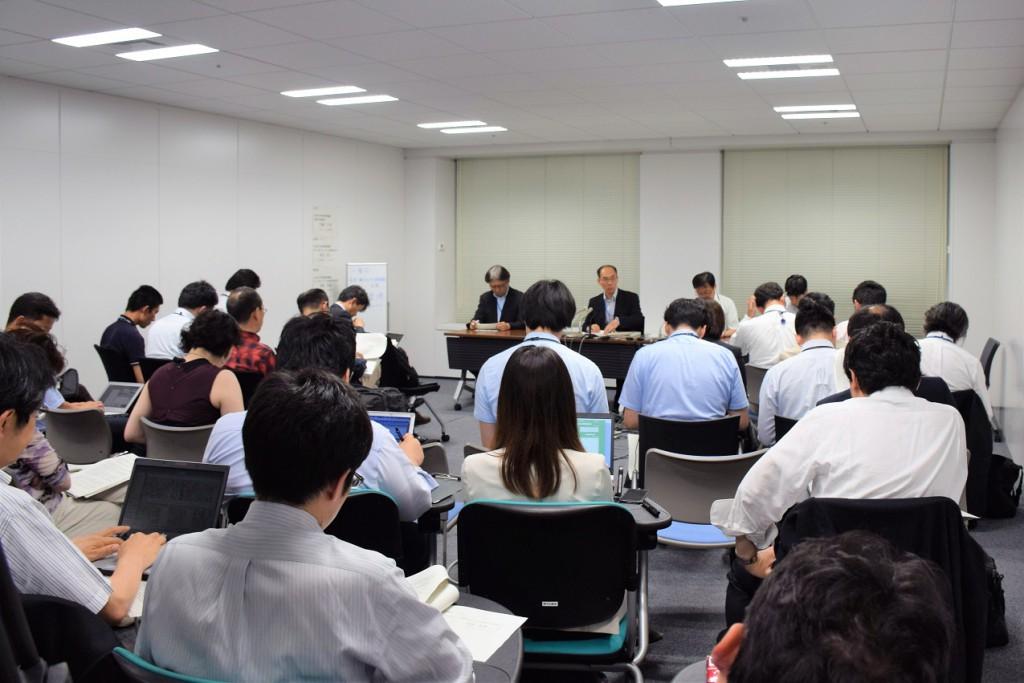 大洗研究開発センター燃料研究棟における汚染について続報3記者会見(2017年6月13日都内)